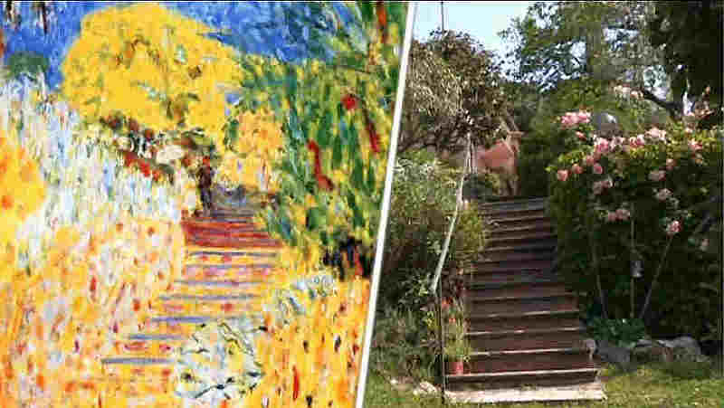 The staircase of  Le Cannet Bonnard